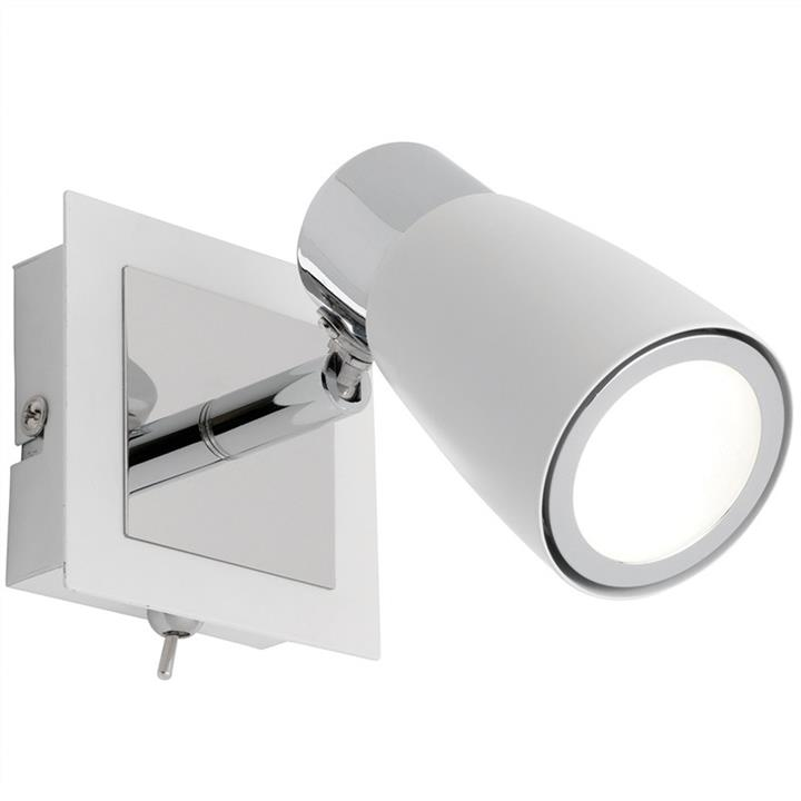 Alecia Metal LED Wall Spotlight with Switch, White