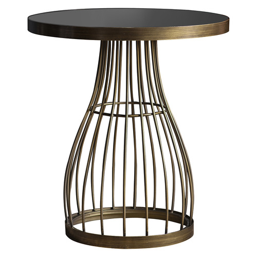 Guthrie Metal & Marble Side Table Colour: Bronze