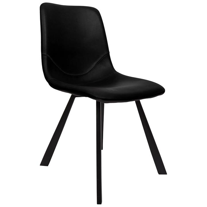 Varun Faux Leather Dining Chair, Black