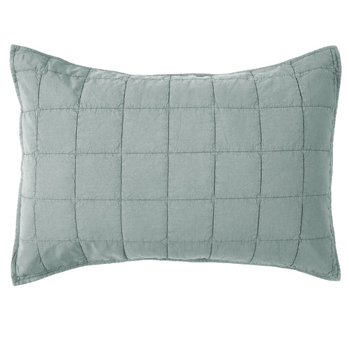 Set of 2 Blue Washed Cotton Pillowcases