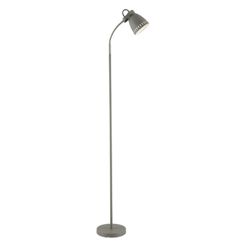 Alpha Metal Floor Lamp Colour: Grey