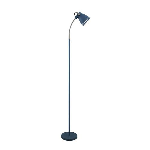 Alpha Metal Floor Lamp Colour: Blue