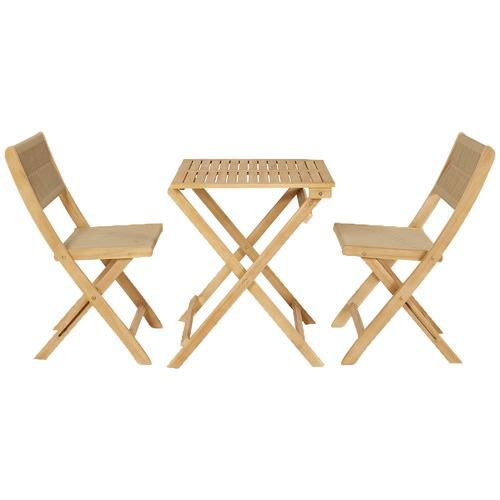 2 Seater Sage Acacia Wood Outdoor Folding Bistro Set