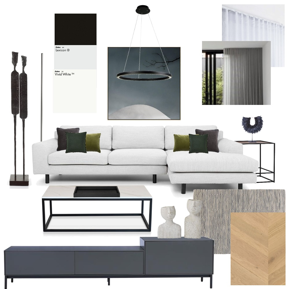 living 3 Interior Design Mood Board by aarontim on Style Sourcebook