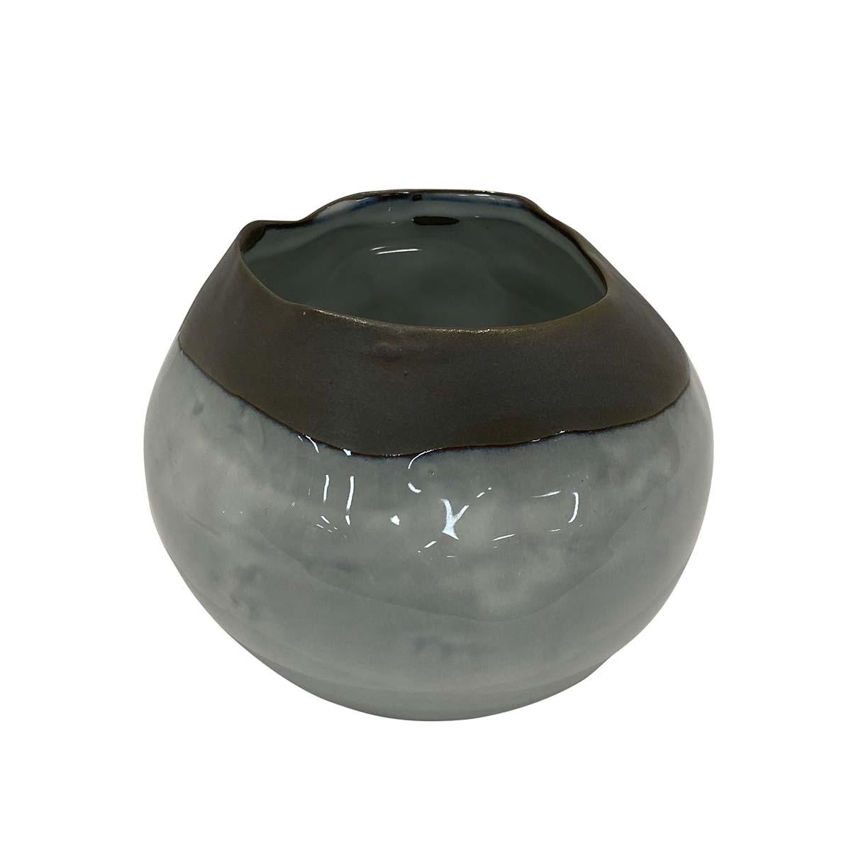 Indigo Halo Vase 14x10cm in Ceramic