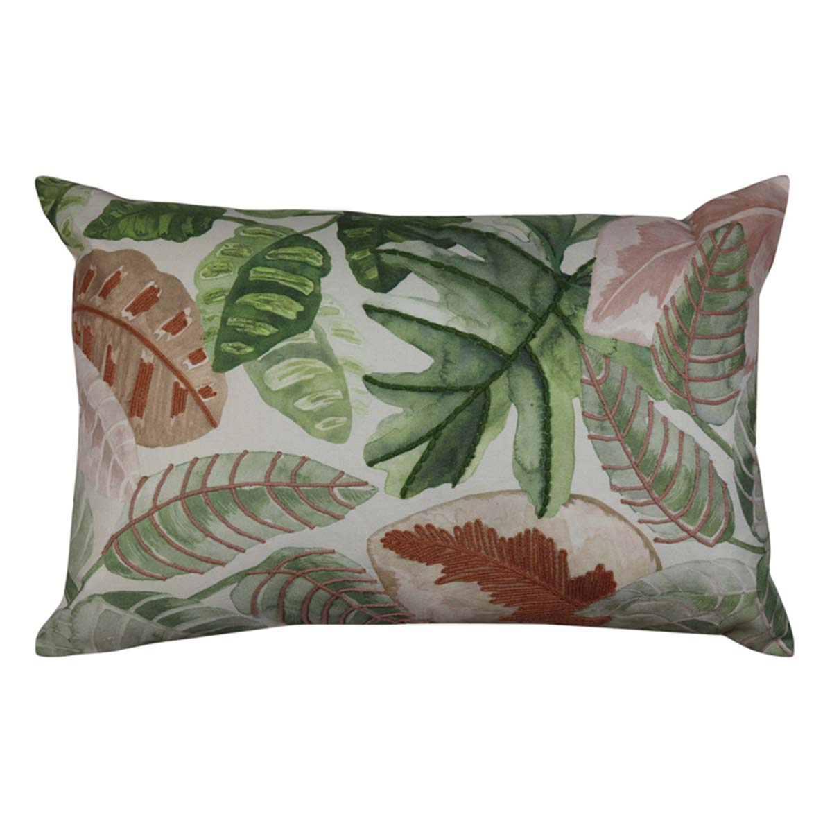 BORNEO CUSHION 60X40CM in green/pink