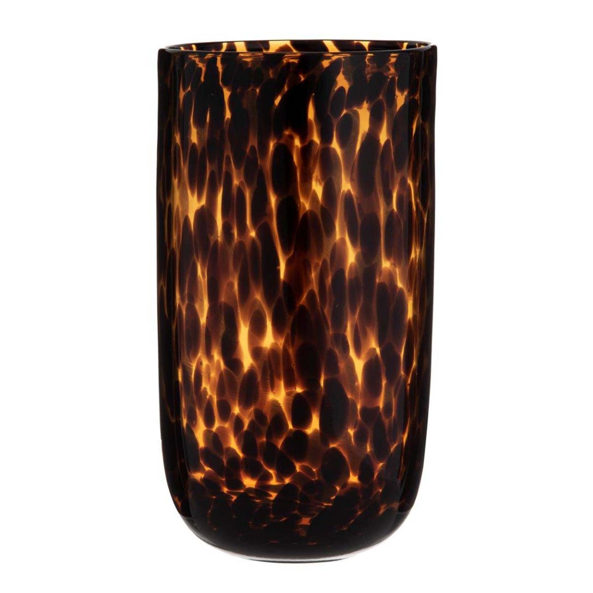 EMBER VASE 17X30CM in amber/black