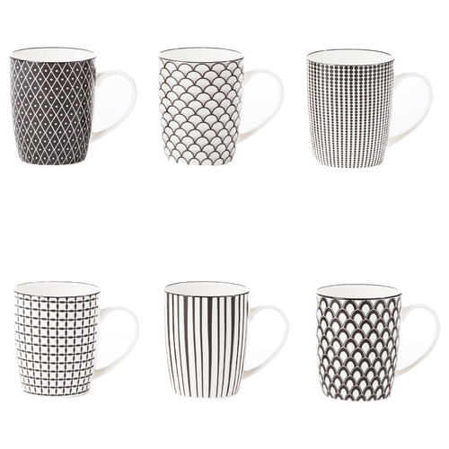 6 Piece Ava 300ml Ceramic Mug Set