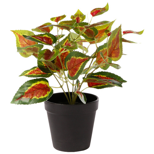 28cm Potted Faux Red Plant