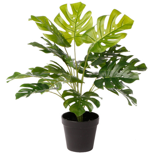 47cm Potted Faux Botanica Monstera Plant