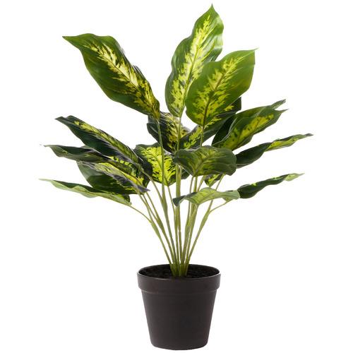 47cm Potted Faux Dieffenbachia Plant