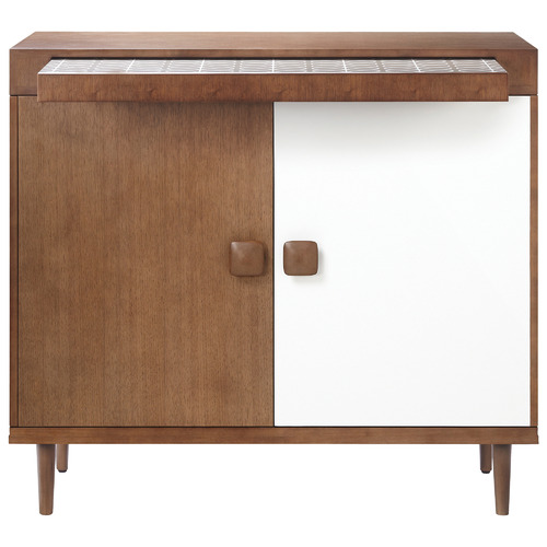 Brown & White Drinks Cabinet