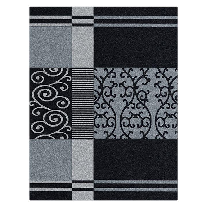 Scroll Stripe Modern Rug