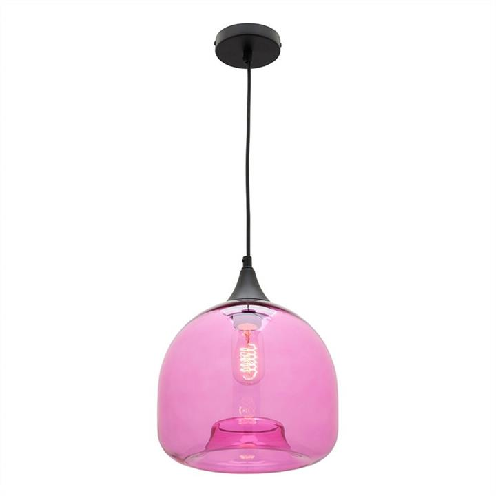 Bridie Glass Pendant Light, Small, Fuschia