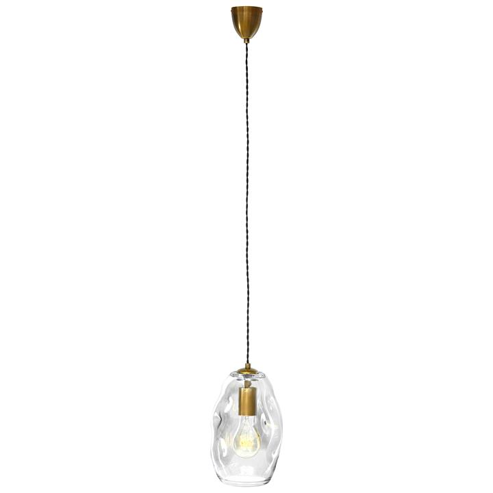 Organic Mouth Blown Glass Pendant Light, Medium