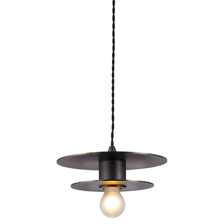 Parlour Double Disc Metal Pendant Light, Iron