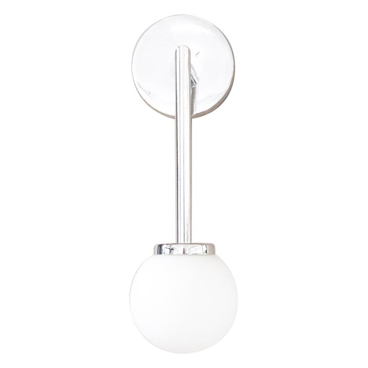 Orb Long Arm Wall Light, Small, Chrome