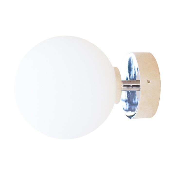 Orb Wall Light, 1 Light, Medium, Chrome