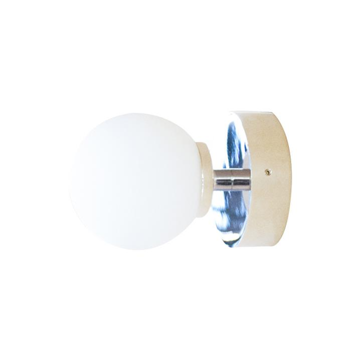 Orb Wall Light, 1 Light, Small, Chrome