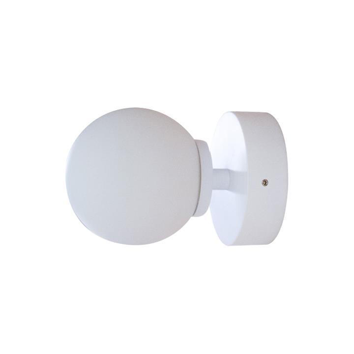 Orb Wall Light, 1 Light, Small, White