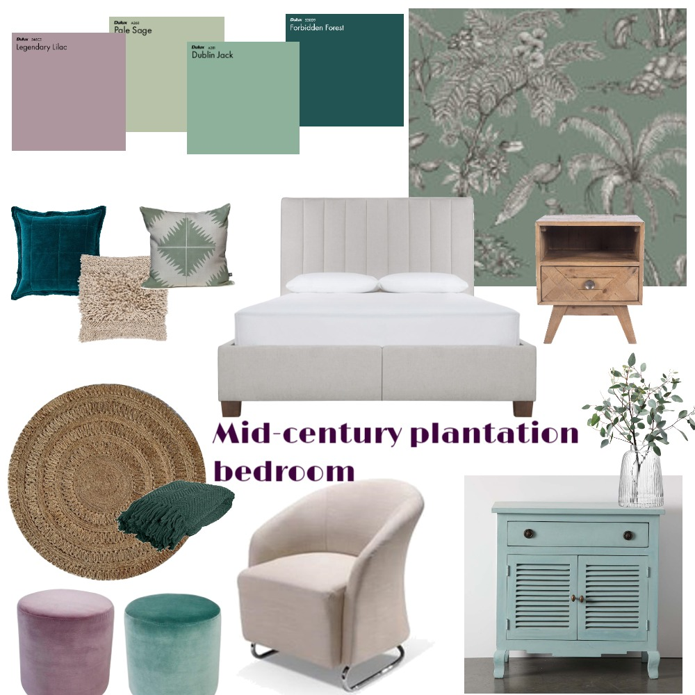 Sage and lavender bedroom Interior Design Mood Board by interiorology on Style Sourcebook