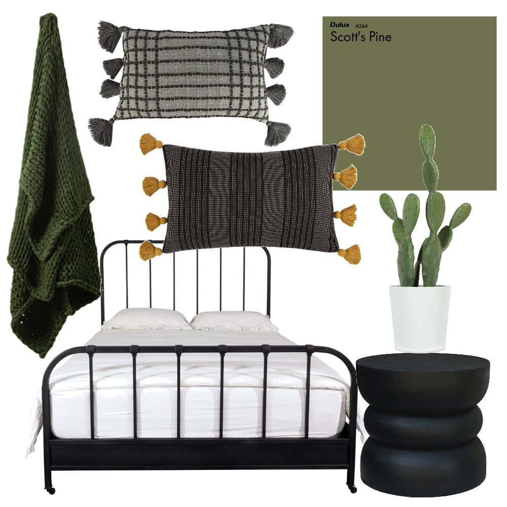 green bedroom Interior Design Mood Board by CourtneyBaird on Style Sourcebook