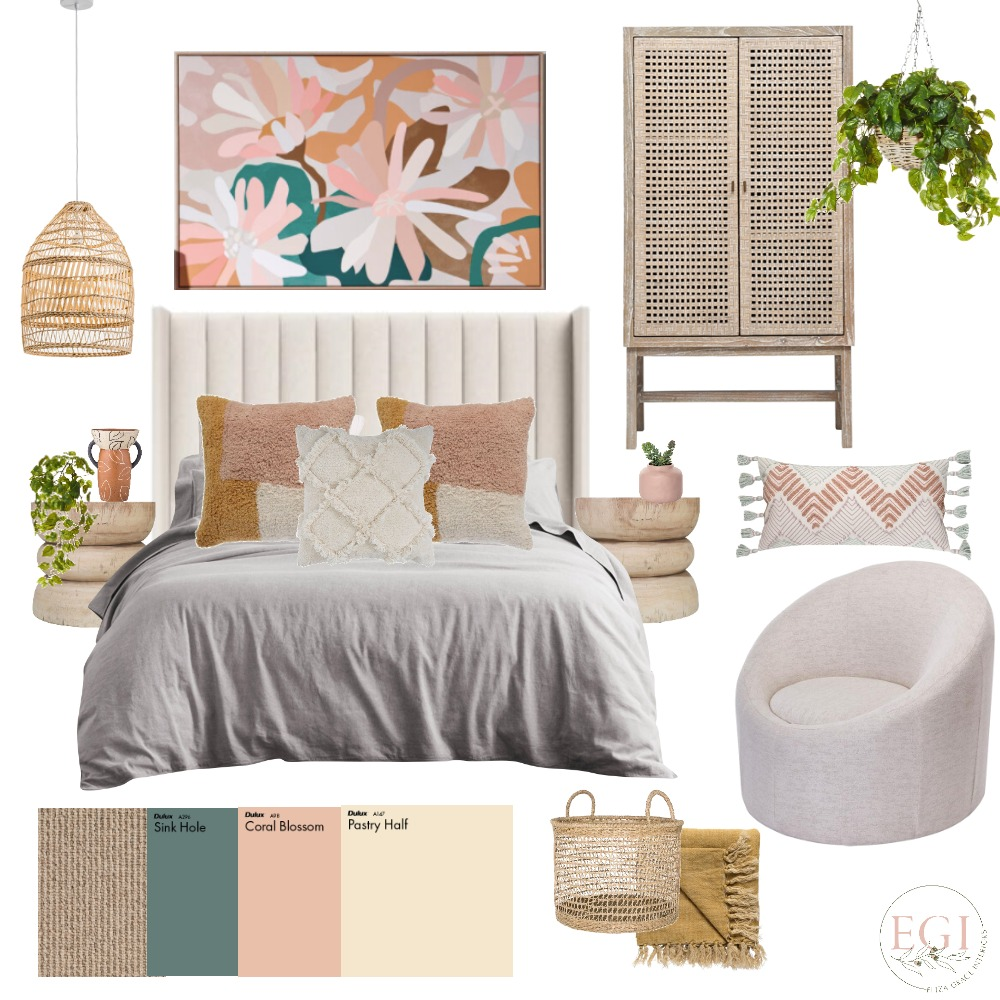 Bright Bedroom Interior Design Mood Board by Eliza Grace Interiors on Style Sourcebook