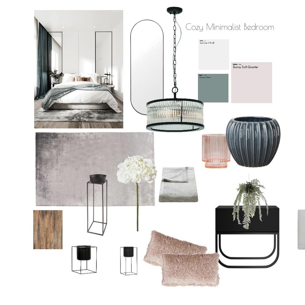Cozy Modern Minimalist Bedroom Interior Design Mood Board by Tonia Walker on Style Sourcebook