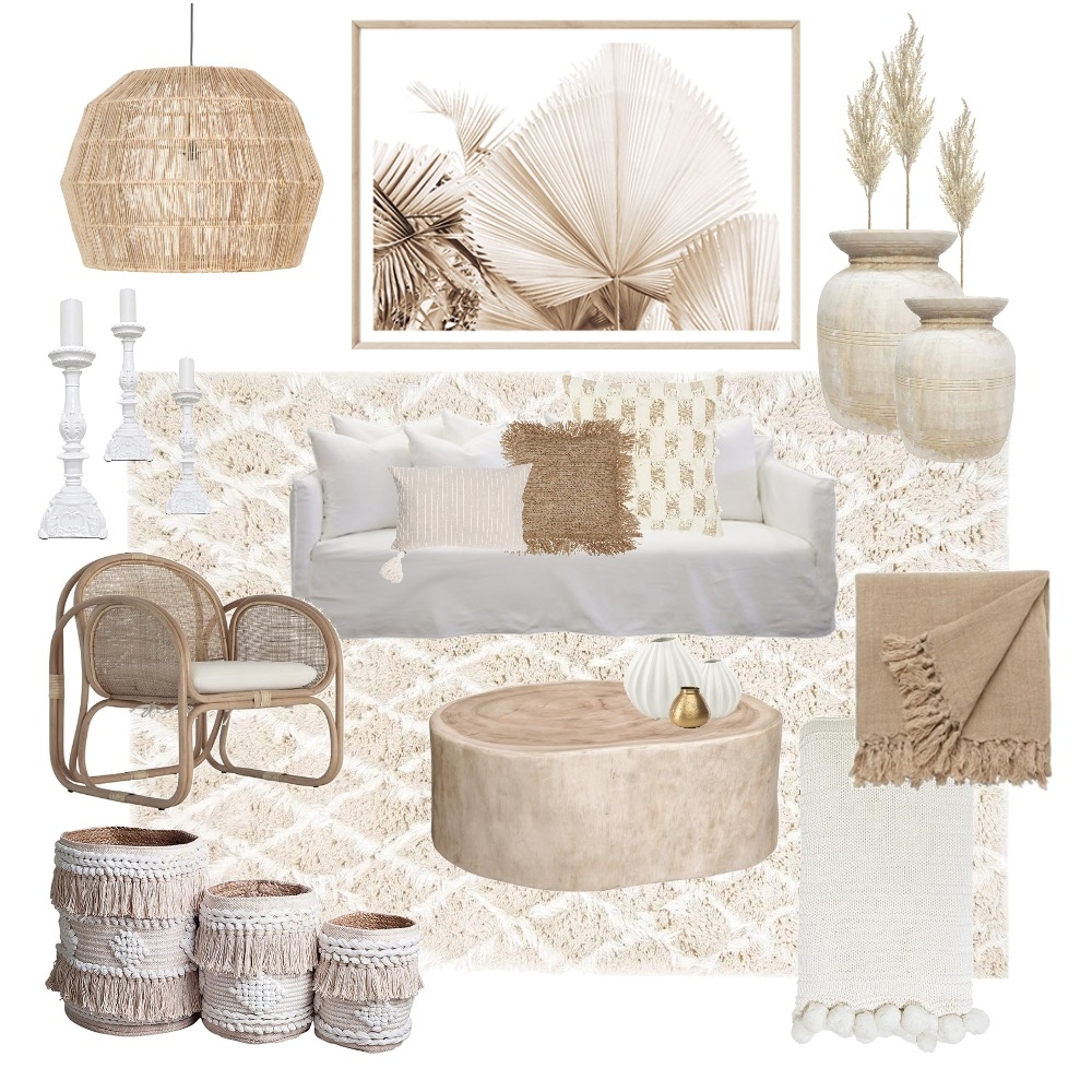 Boho Art and Styling Comp Interior Design Mood Board by Myfactoryhome on Style Sourcebook