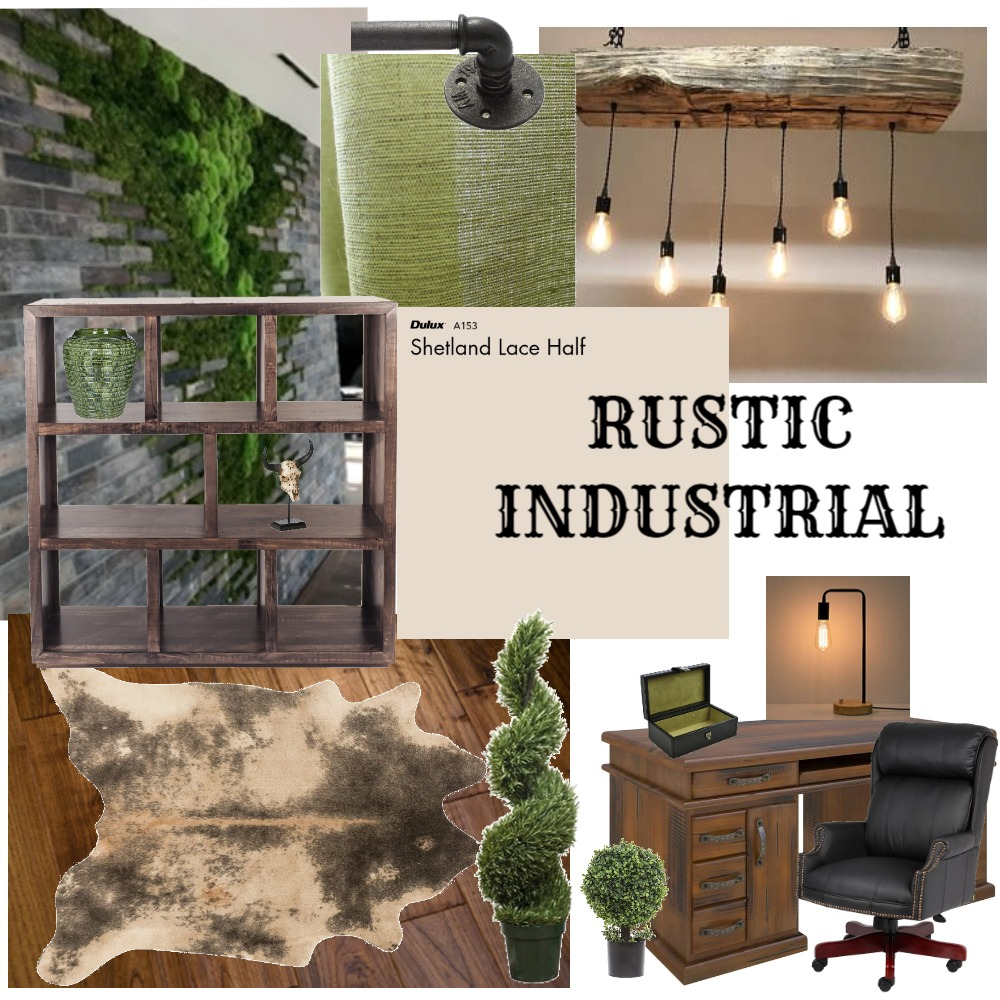 Rustic industrial Interior Design Mood Board by Theka homes on Style Sourcebook