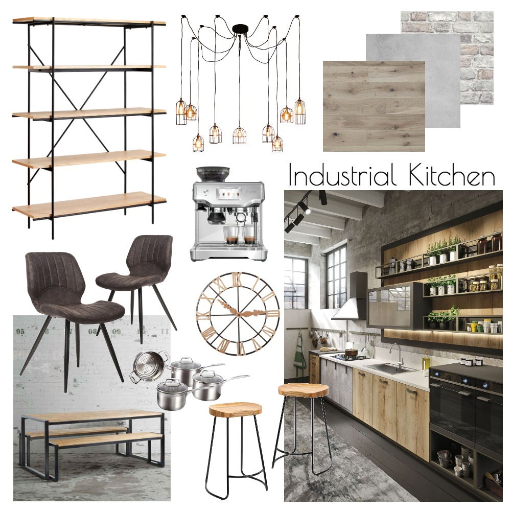 Industrial Kitchen Interior Design Mood Board by Hannah Conway on Style Sourcebook
