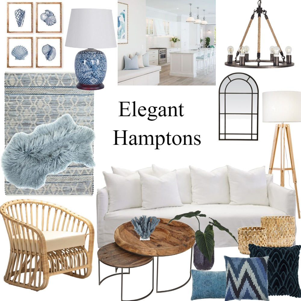 Hamptons Interior Design Mood Board by staged design on Style Sourcebook