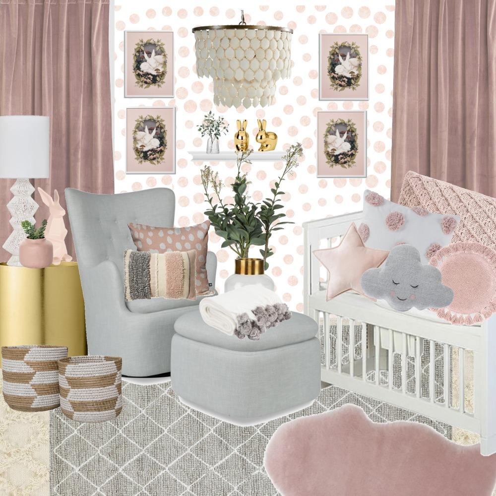 Girl Nursey Interior Design Mood Board by Danielle Pearson on Style Sourcebook
