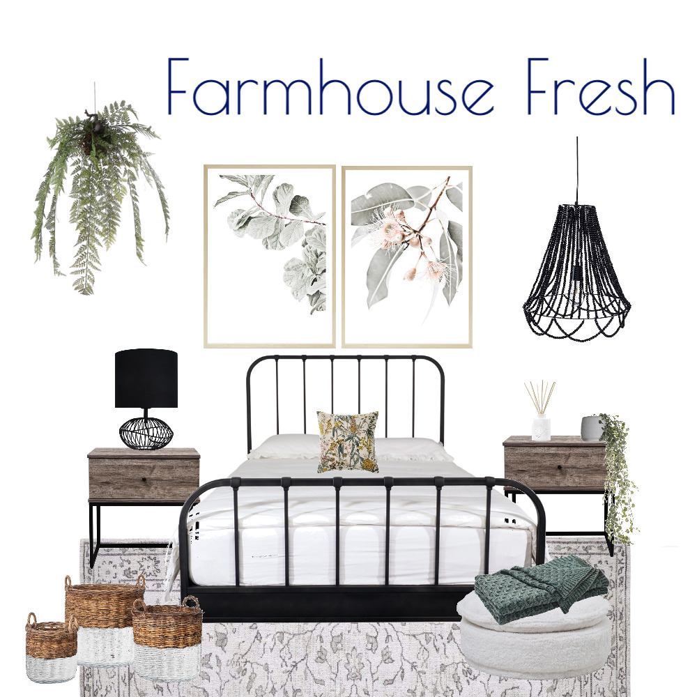 Farmhouse Fresh Bedroom Interior Design Mood Board by Kohesive on Style Sourcebook
