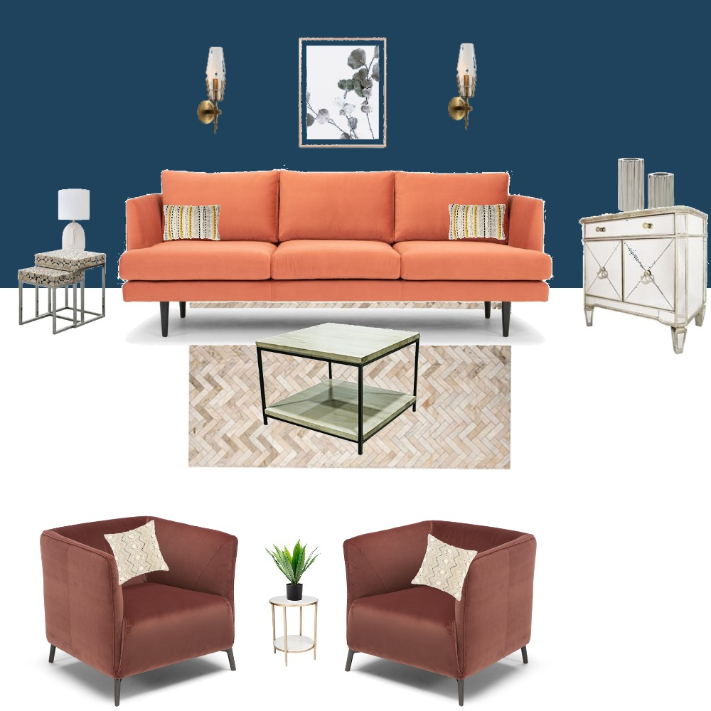 Complementary Style Living Room Interior Design Mood Board by Reveur Decor on Style Sourcebook