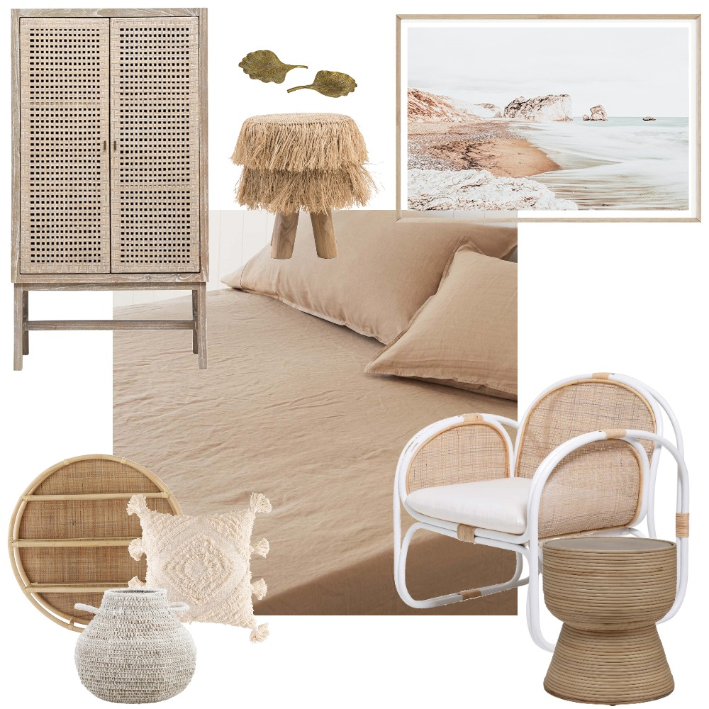 Rattan Room Interior Design Mood Board by Vienna Rose Styling on Style Sourcebook