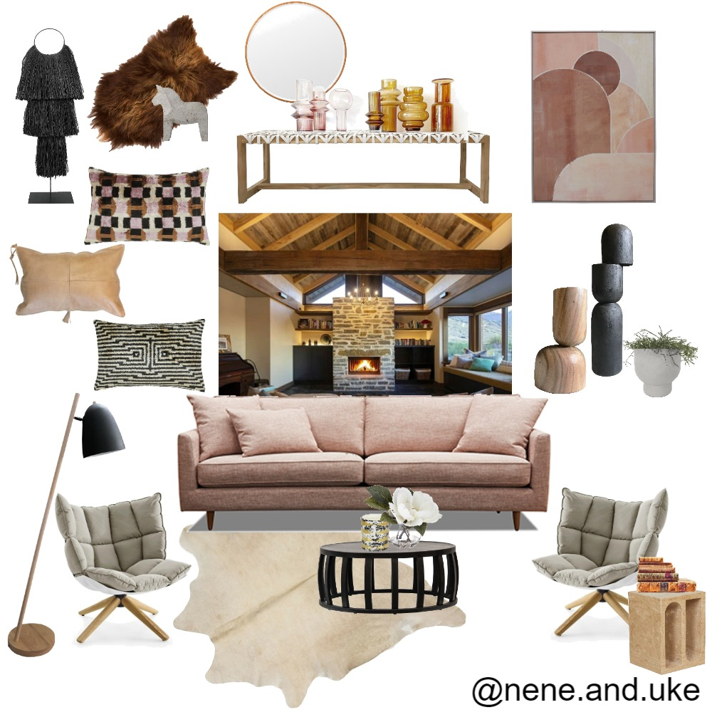 Log Cabin Interior Design Mood Board by nene&uke on Style Sourcebook