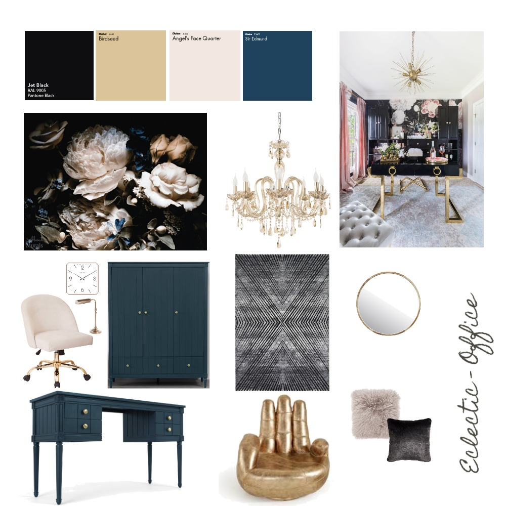Eclectic Office Interior Design Mood Board by Emani Hamouda on Style Sourcebook