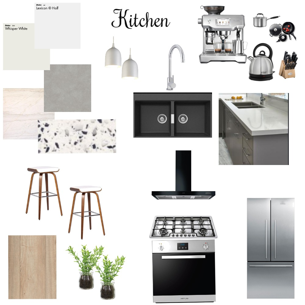 Kitchen Interior Design Mood Board by Reveur Decor on Style Sourcebook