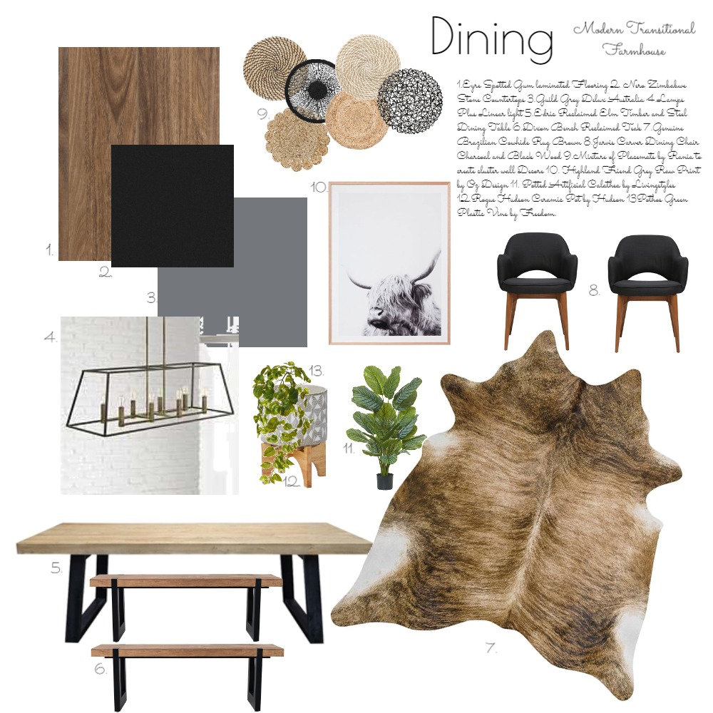 Design School Dining Interior Design Mood Board by hhardin1 on Style Sourcebook
