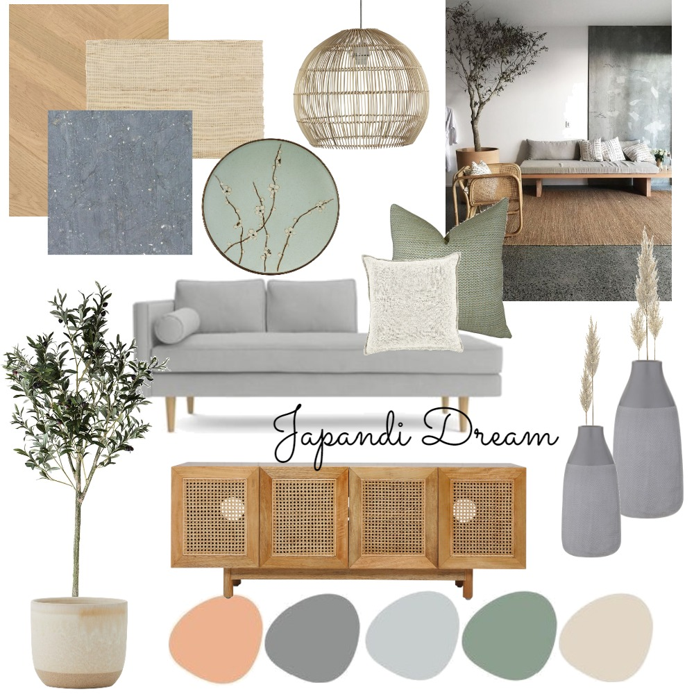 Japanese Boho Interior Design Mood Board by GailEsterhuyse on Style Sourcebook