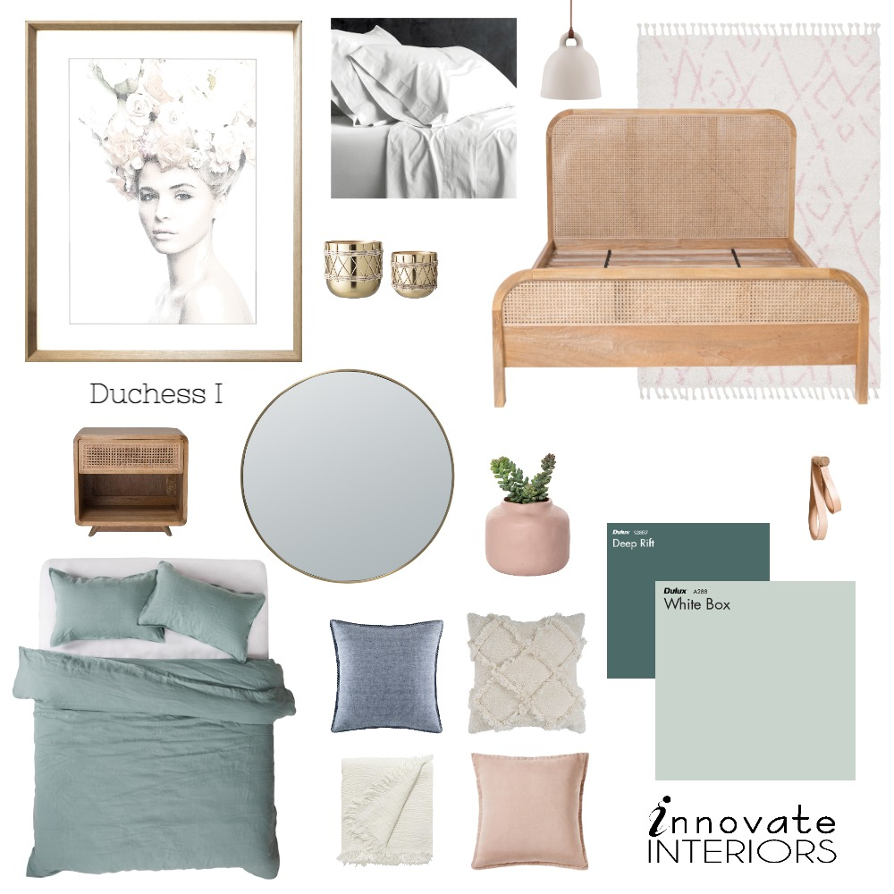Innovate Interiors Duchess Bedroom Mood Board by Innovate Interiors on Style Sourcebook