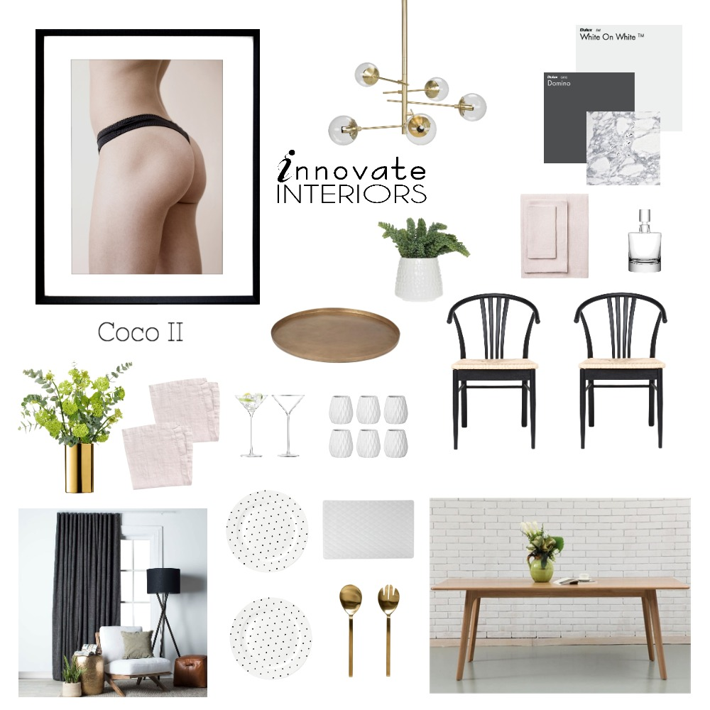 Innovate Interiors Coco Mood Board by Innovate Interiors on Style Sourcebook