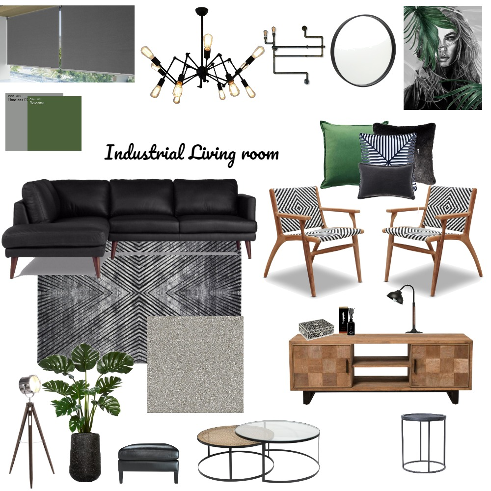 Industrial room Interior Design Mood Board by Hloni Makuluma on Style Sourcebook