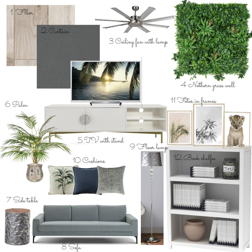 living room Interior Design Mood Board by Irina Sadrieva on Style Sourcebook