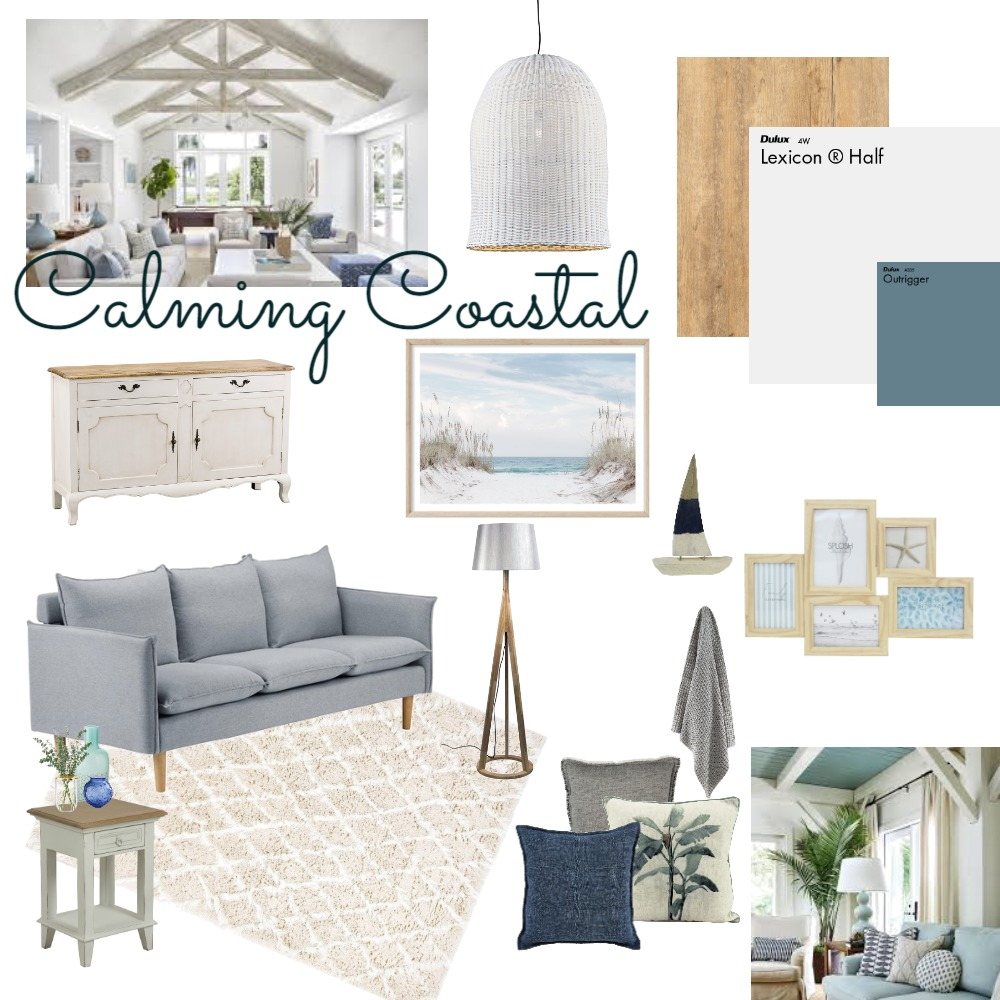 Calming Coastal Interior Design Mood Board by redkrl on Style Sourcebook
