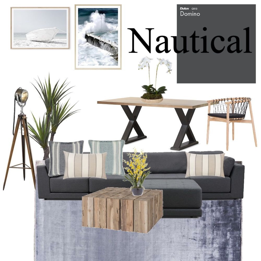 Nautical Interior Design Mood Board by Abetterbox on Style Sourcebook