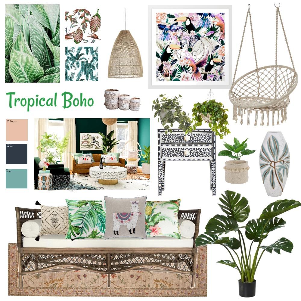 Tropical Boho Interior Design Mood Board by EmmaShim on Style Sourcebook