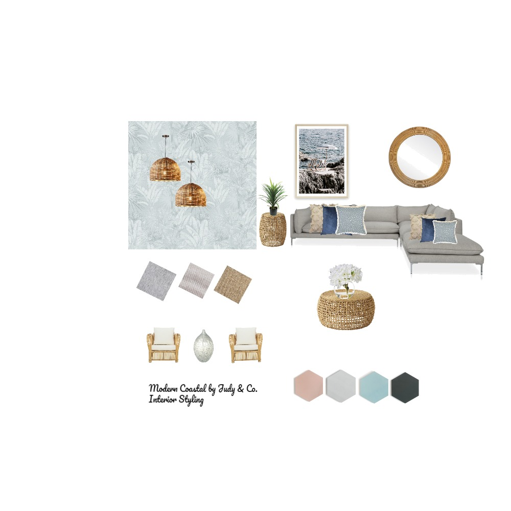 Modern Coastal Interior Design Mood Board by judy.yan on Style Sourcebook