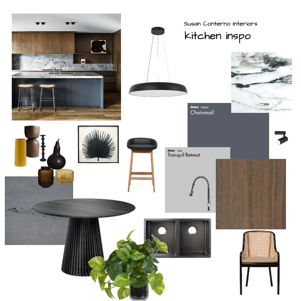 kitchen moody Interior Design Mood Board by Susan Conterno on Style Sourcebook